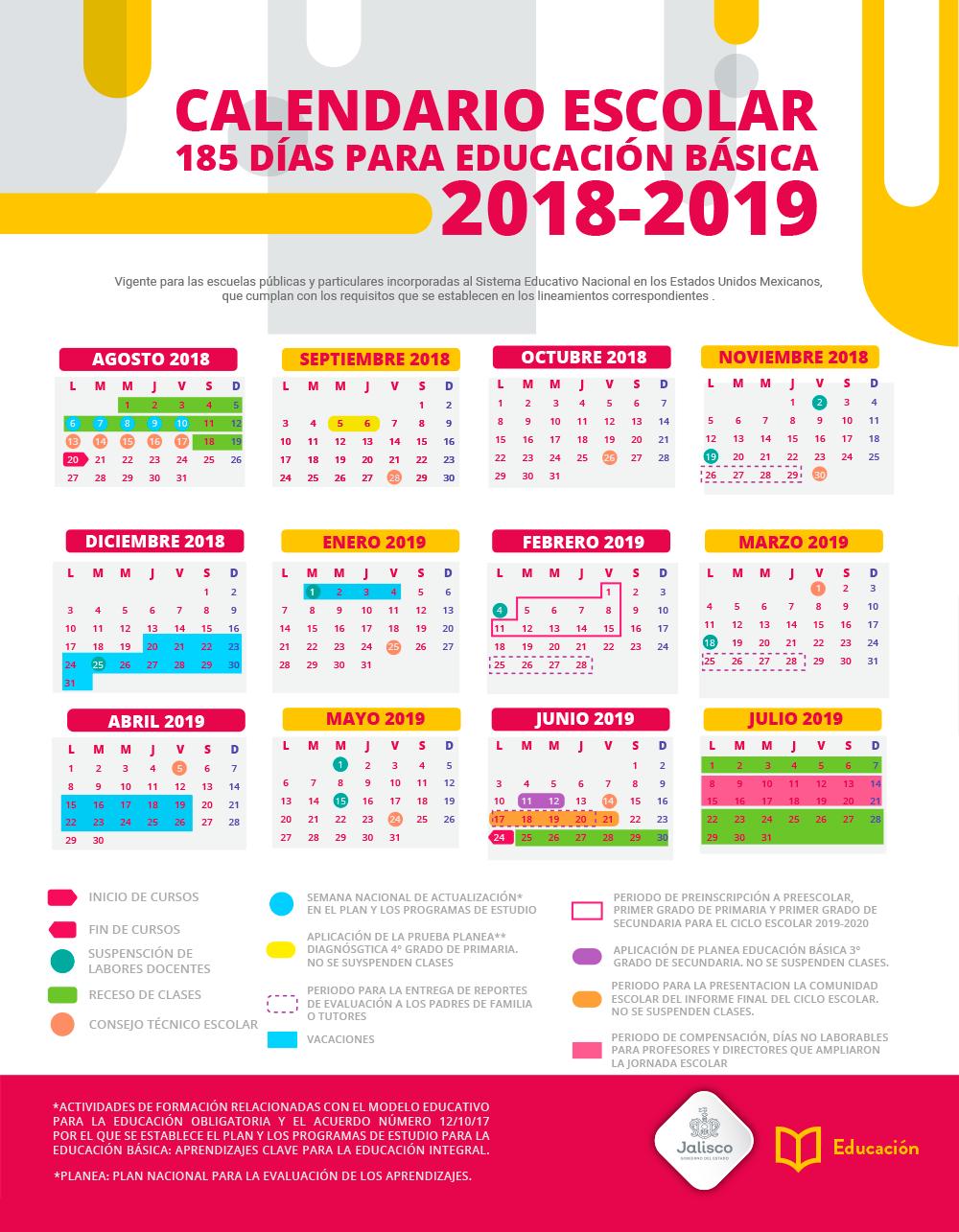 Calendario Escolar 2020 Sep Oficial.Calendario Escolar Portalsej